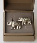 BOUTONS DE MANCHETTE ELEPHANTS