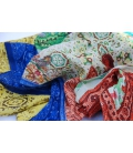 "Multicoloured ""crinkly"" scarf PAISLEY"