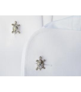 Silver Cufflinks TORTOISE
