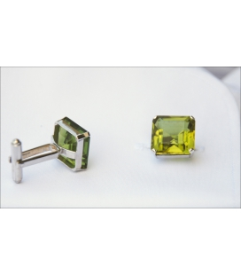Boutons de manchette CRYSTAL VERT