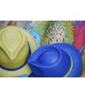 24 HOUR Pistachio & Royal Blue with LEOPARD scarf by MyBob