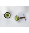 Cufflinks MOLIKA - Green Quartz