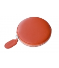 Leather round purse PANDERETA