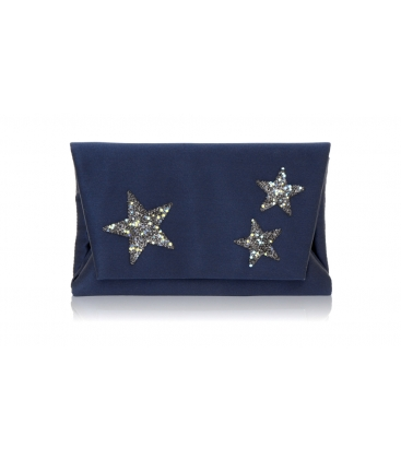 Pochette en satin MIDNIGHT