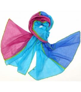 Foulard VOLUBILIS Turquoise LéO ATLaNTE