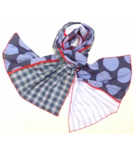 Foulard POIS BLEUS LéO ATLaNTE