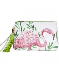 Tassle Clutch FLAMINGO