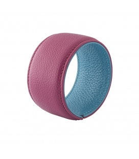 Bracelet manchette cuir SYLVIE Framboise