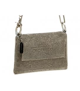 Handbag PYRAMID silver