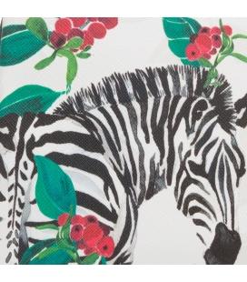Pochette bicolore motif ZEBRES
