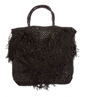 Large jute bag FRINGES