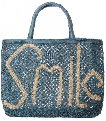 Panier jute bleu The Jacksons SMILE
