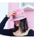 Chapeau Panama rose pâle 24 HOURS