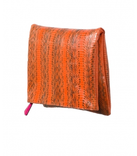 Folding snakeskin clutch BELLA