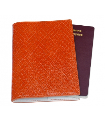 Portepasseport En Cuir Orange - Porte passeport cuir
