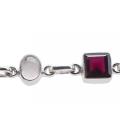 Bracelet argent & pierres PRECIOUS ROSE